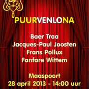 Puurvenlona  28 april  tickets  15 euro